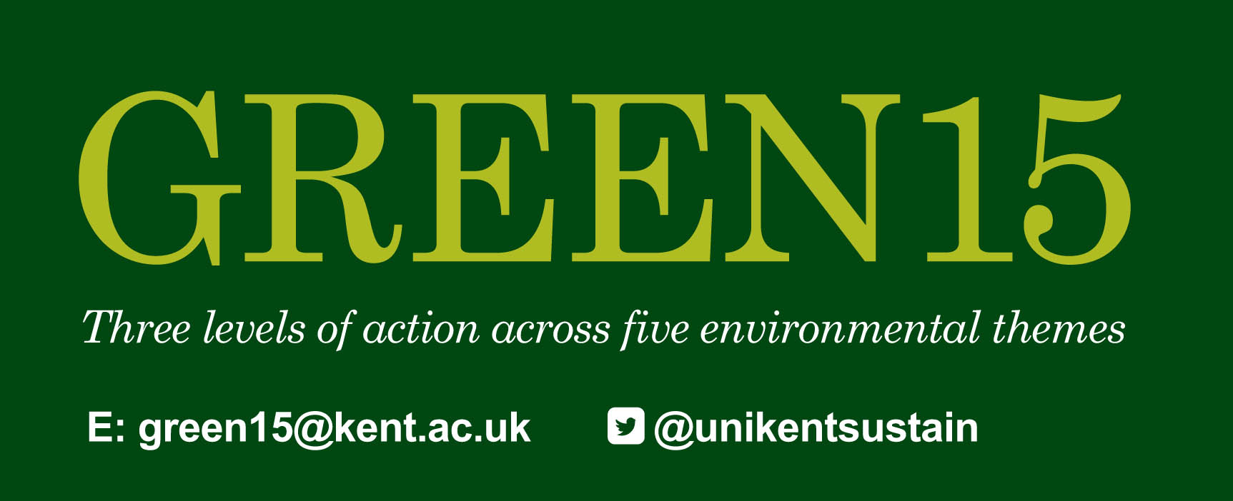 Green15 Enrolment Management Services University of Kent