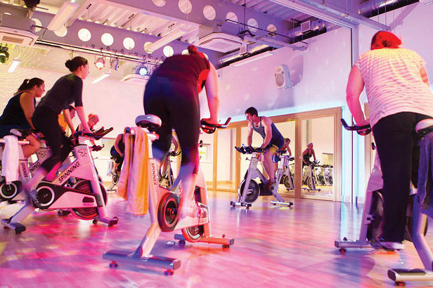 Spinning class at the Sports Centre