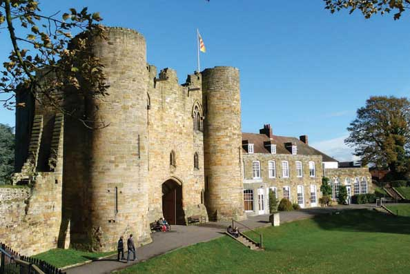 Tonbridge Castle is just a short walk from the Tonbridge Centre