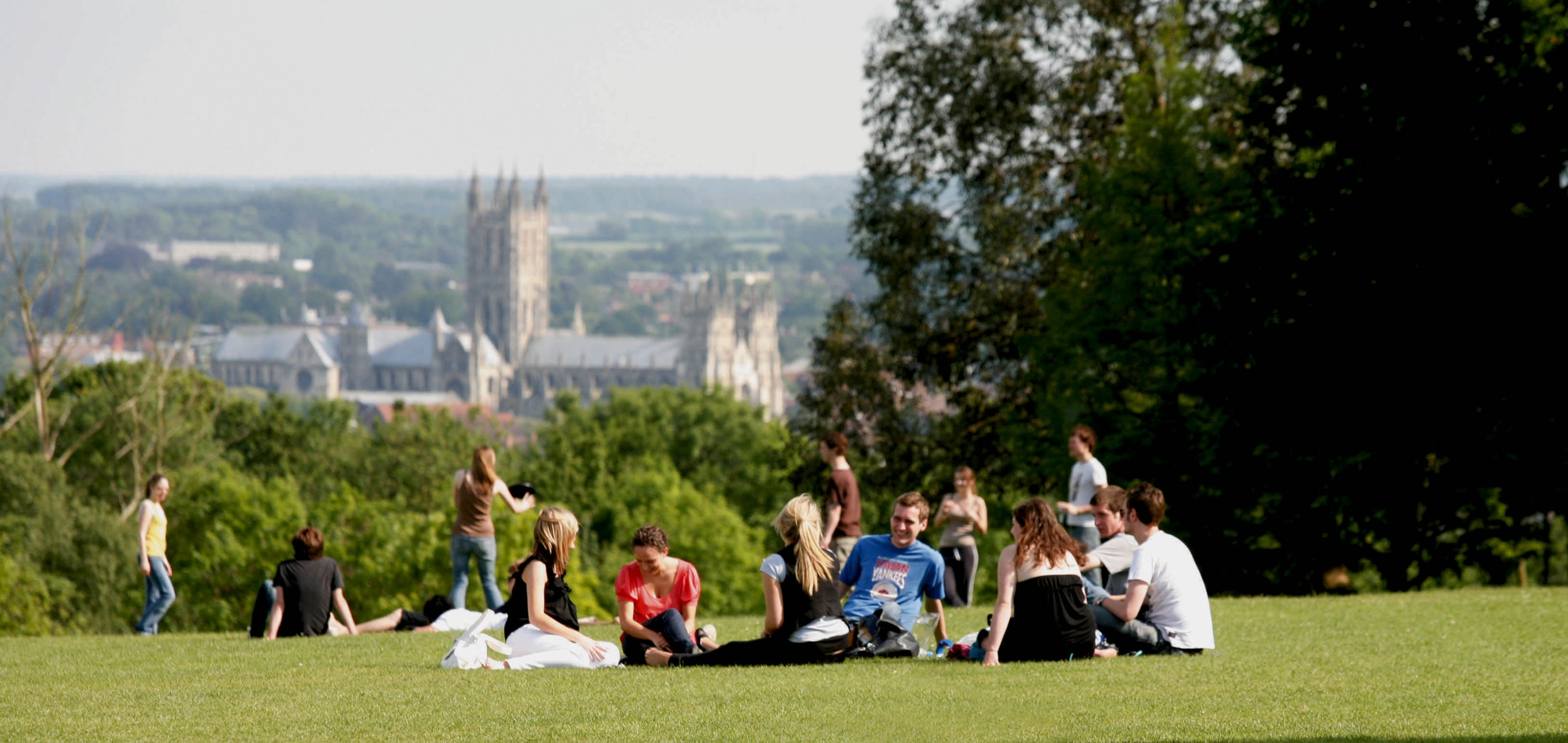 Photo overlooking Cathedral from the University of Kent campus